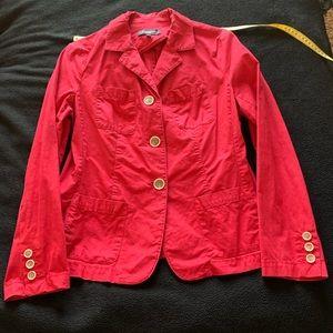 Talbots lightweight stretch red jacket 10p